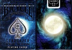 Stargazer New Moon Bicycle Playing Cards Poker Size Deck USPCC Custom Limited