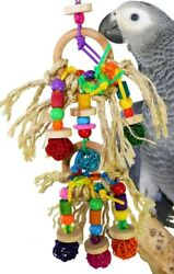1845 Pluck My Rings Bird Toy parrot cage toy cages african grey amazon conure $13.99