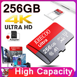 256GB Micro Memory SD Card 275MB S Class10 Flash TF Card with Adapter Fr Phone $11.11