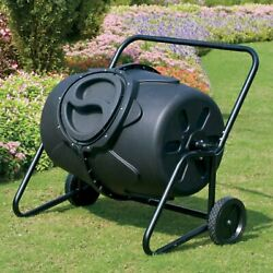 KoolScapes 50 Gallon Heavy Duty Tumbling Composter w Wheels Lawn Garden Garbage $199.99