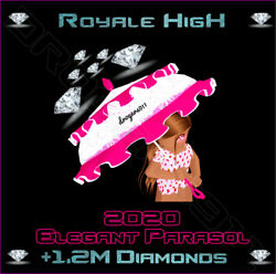 ROBLOX ROYALE HIGH 🦋 2020 Elegant Parasol 500K DIAMONDS 🦋 CHEAPEST PRICE $35.00