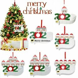 Name Family Decor 2020 Personalized Hanging DIY Christmas Tree Ornament Lucky $8.93