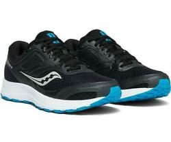 Saucony Versafoam Cohesion12 mens running shoes Black Blue S20471 5 Size 14 $54.99
