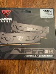 Viper Gaming DDR4 VIPER STEEL 16GB 3200MHZ PC4 25600 Extreme Performance $80.00