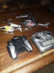 2 RC helicopter remote for parts do not work $55.00