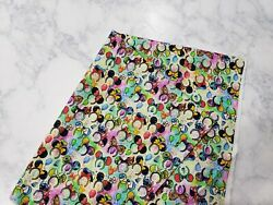 Mickey Mouse Ears And Disney Character 100% Cotton Fabric Fat Quarter $5.00