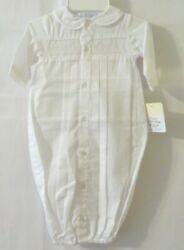 Petit Ami Smocked Convertible Bag to Longalls amp; Hat 5189 White Preemie #10392 $14.90
