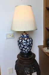 table lamps vintage painted Chinese porcelain base $90.00