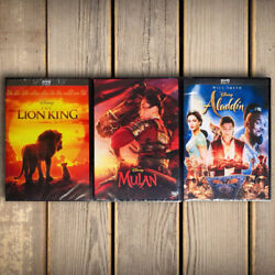 Lion King Live Action 2019 and Aladdin Live Action DVD 3 Movies Collection $21.80