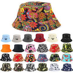 Men Women Floral Bucket Hats Fishing Sun Beach Travel Outdoor Cap Holiday Unisex $6.99