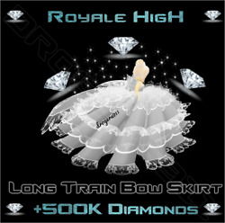 ROBLOX ROYALE HIGH 🦋 Long Train Bow Skirt 500K DIAMONDS 🦋 CHEAPEST PRICE $30.00