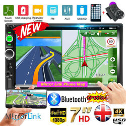 Car Stereo Radio Bluetooth Double 2 Din 7quot; USB FM AUX IN IOS Android Mirror Link $57.99