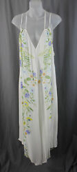 Intimately Free People NWT White Multi Color Floral Sleeveless Maxi Dress XS $39.00