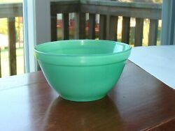 Vintage Glass Fired On Green Small Bowl 5quot; $5.00