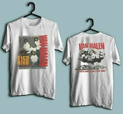 Vintage Van Halen Hagar 5150 Tour #x27;86 Concert White Men Women T Shirt BACK FRONT $18.96