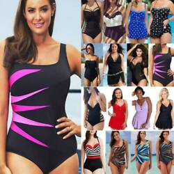 One Piece Monokini Push Up Bikini Women Swimsuit Swimwear Beachwear Plus Size US $16.09