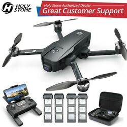Holy Stone HS105 HS720E 4K EIS Drone with Anti shake Camera GPS FPV Quadcopter $49.99