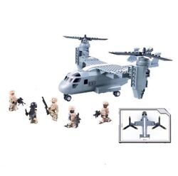 New 318Pcs Military Series Osprey helicopter Model Building Blocks Bricks Model $17.99