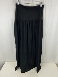 Simlu Maxi Skirts for Women Long Length Skirts with Pockets Black Small $17.99