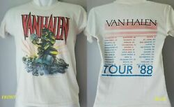 RARE Vintage VAN HALEN Monsters Of Rock Tour #x27;88 Men Women T shirt BACK amp; FRONT $18.96