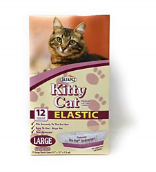 Alfapet Kitty Cat Litter box Disposable Elastic Liners 12 count For Medium and $14.55