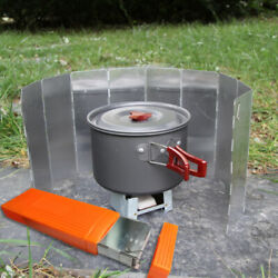 Outdoor Large Box Wind Deflector Box Camping Windshield Stove Storage Plastic US $9.36