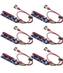 6 pack PCleDual Chip PCI E 16x To 1x Powered Riser Adapter Card $25.48