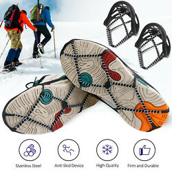 Traction Cleats Ice Snow Grips Spikes Crampons Walking Jogging Hiking Climbing $8.85