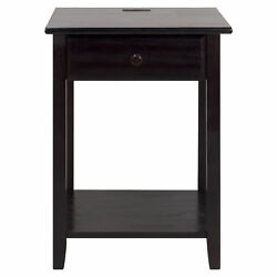 Casual Home Night Owl Bedroom Nightstand with Included Discrete USB Port Station $99.99