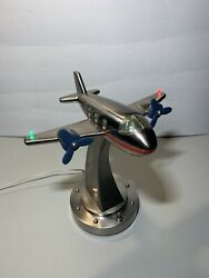 Pottery Barn Kids Flying Airplane Lamp Night Light Vintage Rare $95.00