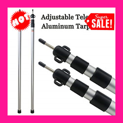 Set of 2 Adjustable Tarp Poles Telescoping Aluminum Rods for CampingBackpacking $67.99