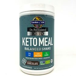 Garden Of Life Keto Meal 14 Servings Balanced Shake Meal Replacement Weight Loss $24.99
