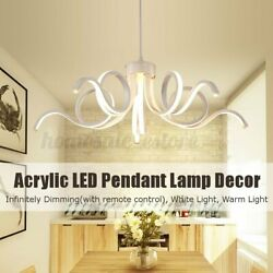 Dimmable Acrylic Modern LED Pendant Lamp Ceiling Light Chandelier Fixture $66.63