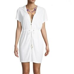 Plus Size White Beach Swimsuit Cover Up Dress $15.00