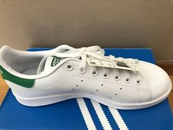 New ADIDAS STAN SMITH WHITE GREEN SNEAKERS Kid's 7 Men#x27;s 7 New In Box $40.00
