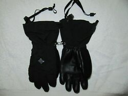 KIDS BURTON WINTER ADJUSTABLE SKI GLOVES BLACK SIZE Medium M DRYRIDE $22.00