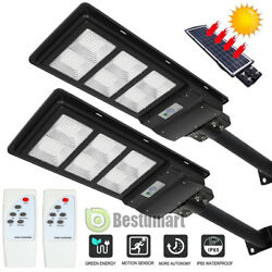 100000LM 90W Outdoor Commercial LED Solar Street Light Radar SensorRemote amp;Pole