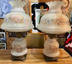 Two Large Antique Lamps $150.00