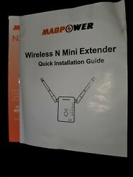 White Color Used Madpower N300 Wireless N Mini Extender 300 Mbps Signal Booster $10.00