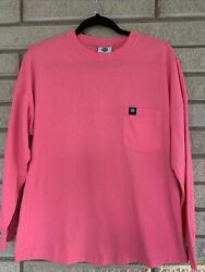 Simply Southern Women's Size Small Preppy Classy Long Sleeve Pink T Shirt $14.99