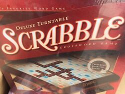 Scrabble Deluxe Turntable Game By Hasbro Gaming Red Tiles $99.99