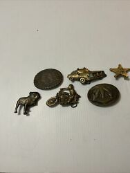 vintage brass belt buckle lot Of 6 $14.99