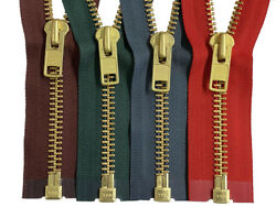 YKK #10 Brass Metal Separating Zippers Extra Heavy Duty Jacket Made in USA $12.95