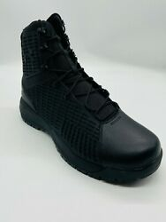 Under Armour UA Stryker Black 8quot; Lace Up Tactical Boots Mens sz 91011.513 $99.00