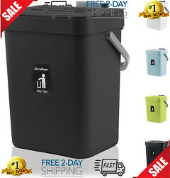 KaryHome Kitchen Compost Bin for Counter Top Hanging Small Trash Can with Lid U $30.99