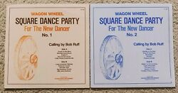 Square Dance Party For The New Dancer No. 1 amp; 2 2 x LP Calling by Bob Ruff $12.50