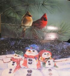 2 WINTER Snowmen Cardinals Magnetic Mailbox Covers LOT $14.95