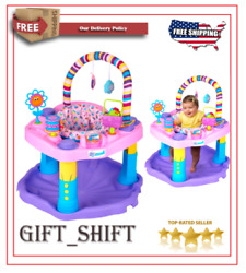 Evenflo Exersaucer Bounce And Learn Sweet Tea Party Baby Toy Activity Center $79.25