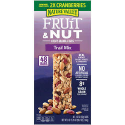 Nature Valley Chewy Trail Mix Fruit amp; Nut Granola Bars 48 ct. Free Shipping $19.47