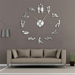 3D Clock Wall Sticker Sexual Position 12 Hours clock Adult Room Home Decor Gifts $31.99